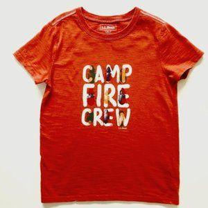 L.L. Bean L Camp Fire Crew Tee  Boys (6x - 7)
